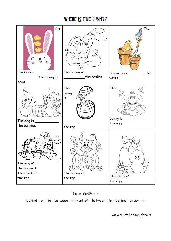 Preposizioni Di Luogo In Inglese Schede Didattica Sulla Pasqua