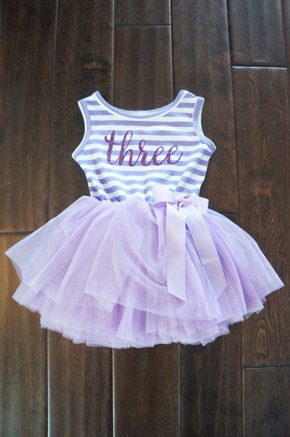 Third Birthday outfit dress with purple letters and purple tutu for girls or toddlers Sofia the first 3rd birthday