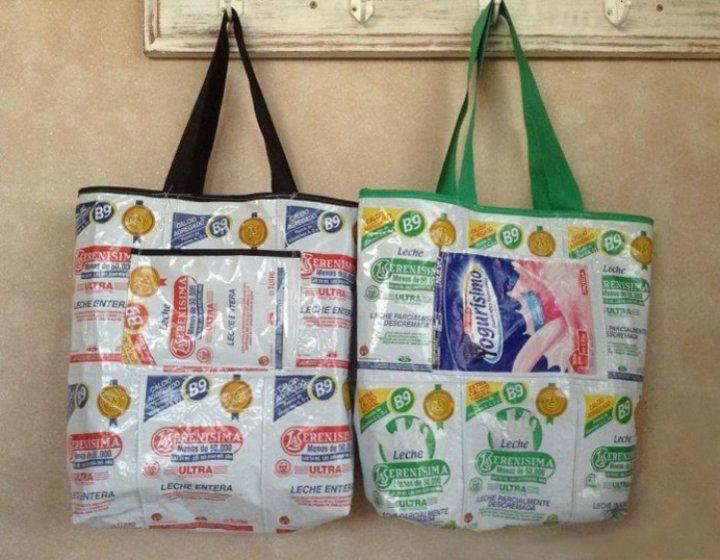 Encontr 225 Bolsas Con Sachet Reciclados De Leche Y Yoghurt