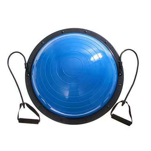 BestEquip Yoga Balance Trainer 23 Inch Balance Trainer Ball Fitness Strength Exercise Balance Ball with Lifting Rope and Pump -- Read more  at the image link.