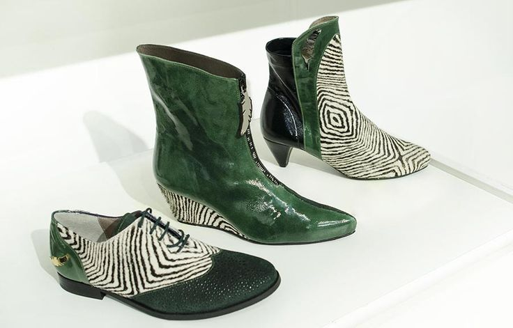 Pure London Colours | Tru' Lavina  #green #wedge #boots #brogues #flat #shoes #stylish #funky #urban #unique