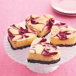 Raspberry-White Chocolate Cheesecake Bars (valentines day? :) )
