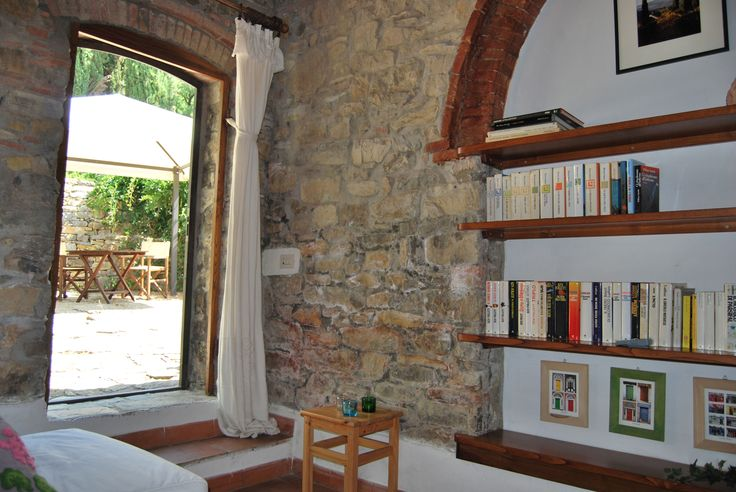 Room R at Fagiolari is a large, air conditioned room on two levels a private bathroom with shower and a little sofa... #room #italy #tuscany