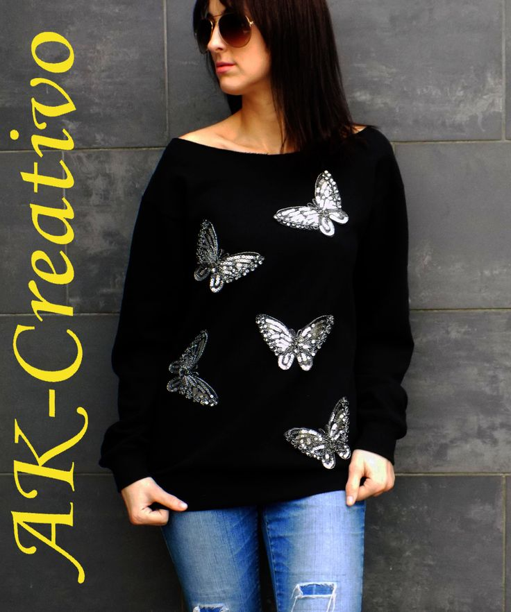 bluza - AK-Creativo http://pl.dawanda.com/product/93790567-bluza-motyle