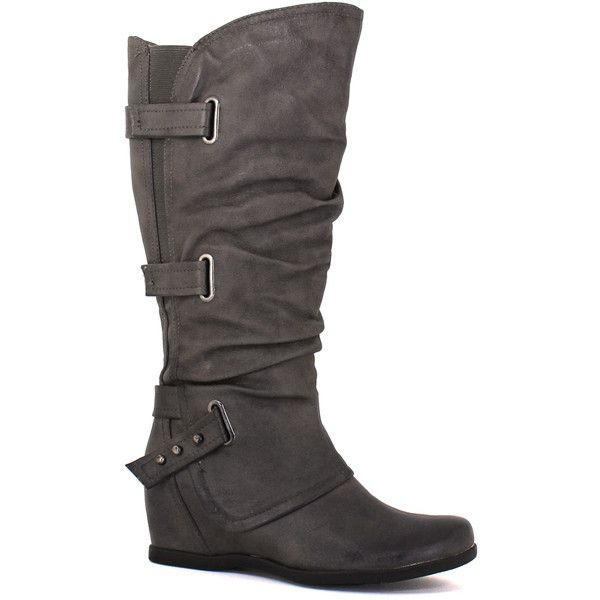 Baretraps Women's Quibella Dark Grey - 6 M Women's Shoes ($90) ❤ liked on Polyvore featuring shoes, boots, multicolor, dark gray shoes, baretrap shoes, baretraps boots, multi coloured shoes and multi colored boots