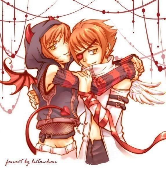 Hikaru & Kaoru Hitachiin. I dont ship, but I love the art. Brava.