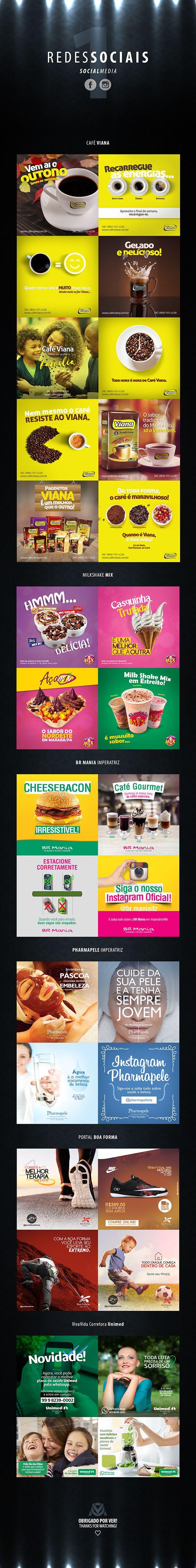 Criação e direção artística para postagens de Facebook e Instagram de empresas comerciais e industriais de Imperatriz-MA.