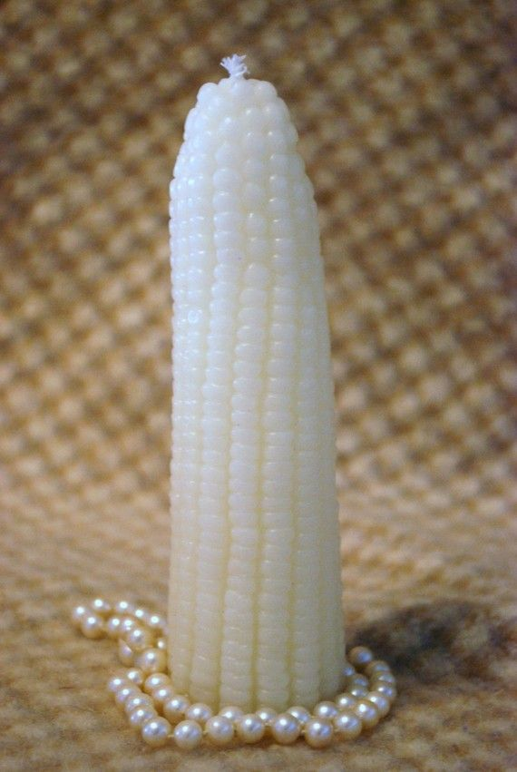 Beeswax Candle Realistic Shaped Corn Cob By PeaceBlossomCandles