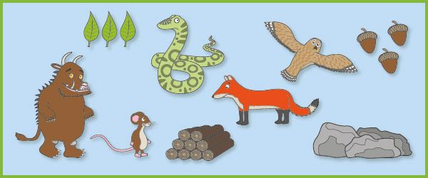 The Gruffalo Story Prompts / Cut Outs