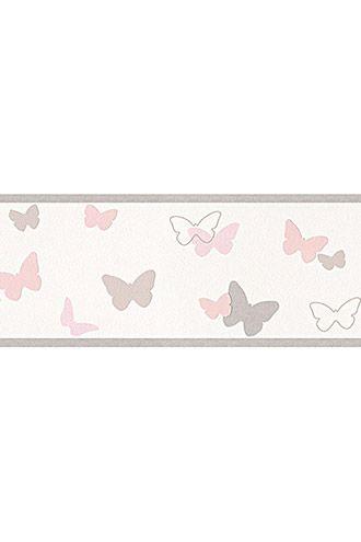 Grösseninfo: -Rollenformat 5,00 x 0,13 m Details: -Auf der Kinderbordüre Sweet Butterfly aus Vlies sorgen verschiedenfarbige Schmetterlingsmotive auf hellem Grund für die fröhliche Optik. -Die Bordüre ergänzt perfekt die Tapeten aus derselben Serie. -Sie ist gut lichtbeständig, hoch waschbeständig und restlos trocken abziehbar. -Der Artikel trägt das Gütezeichen RAL der Gütegemeinschaft Tapete e. V., das definierten technischen und gesundheitlichen Qualitätsanforderungen entspricht.