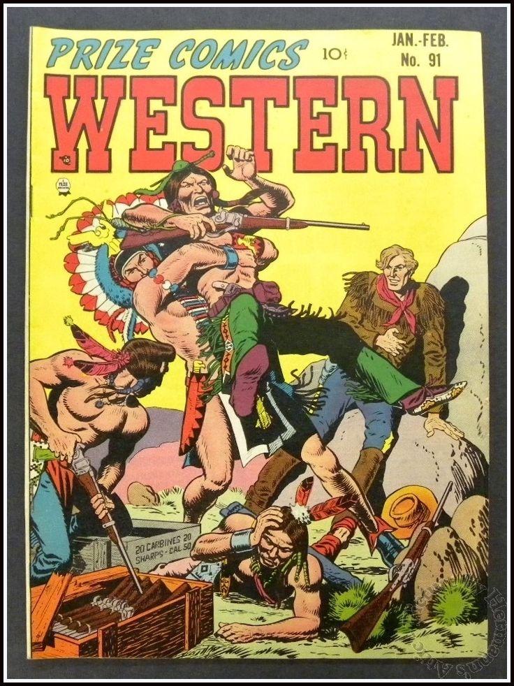 WESTERN Prize Comics #91 Jan - Feb 1952, Classic Cowboy & Indian Comic VF+ 8.5
