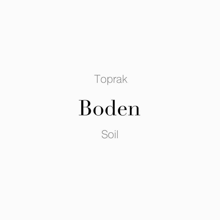 """44 Beğenme, 1 Yorum - Instagram'da Täglich ein Wort (@taglicheinwort): """"Hava Su """" Toprak • der Boden • Soil """" Tahta /ˈboːdn̩/ Verimli topraklara düşmek. • Auf fruchtbaren…"""""""