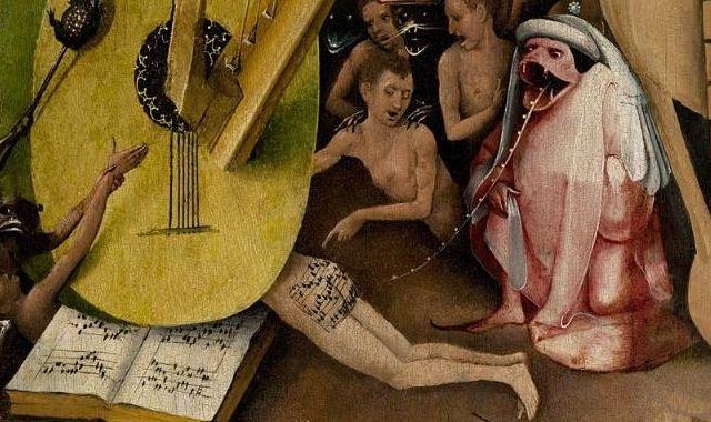 """Partitura en el culo El Bosco Detalle de """"El jardín de las delicias"""" Para escucharla: historia-arte.com"""