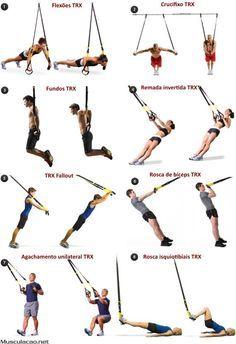 Os 17 melhores exercícios com sistema TRX   Fique a conhecer os melhores exercícios que é possível realizar com os sistemas de treino em suspensão do tipo TRX.