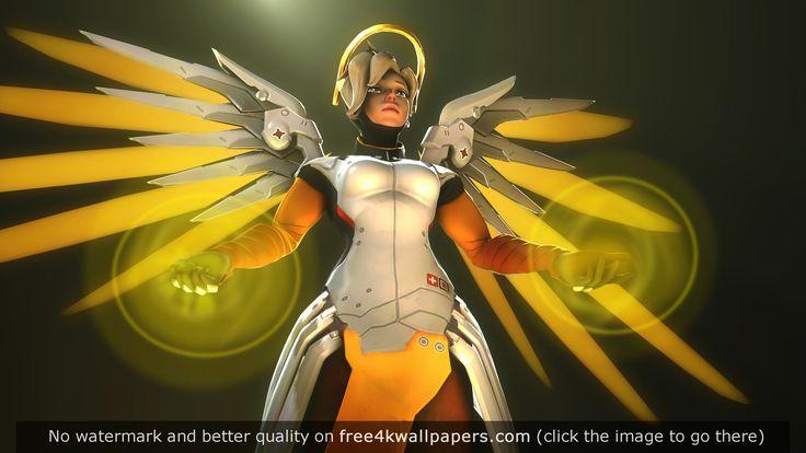 Mercy Overwatch 4K wallpaper