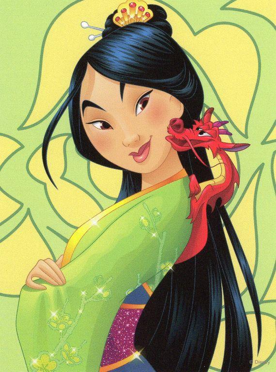 Disney - Mulan et Mushu - Continental taille carte postale d