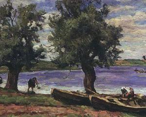 Lake Ilmen - Pyotr Konchalovsky
