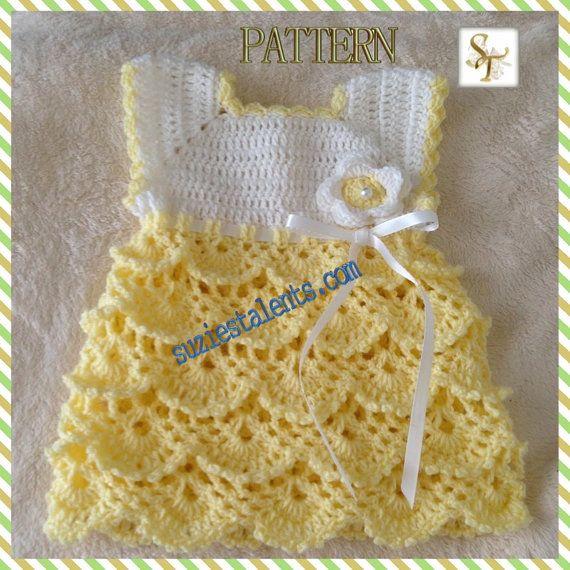 PATTERN+PT071++Crochet+Baby+Dress+Baby+by+CrossStitchNPatterns,+$5.99