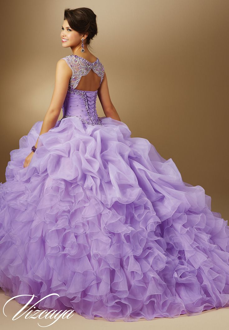 Quinceanera Dress 89048 Jeweled Beading on Organza