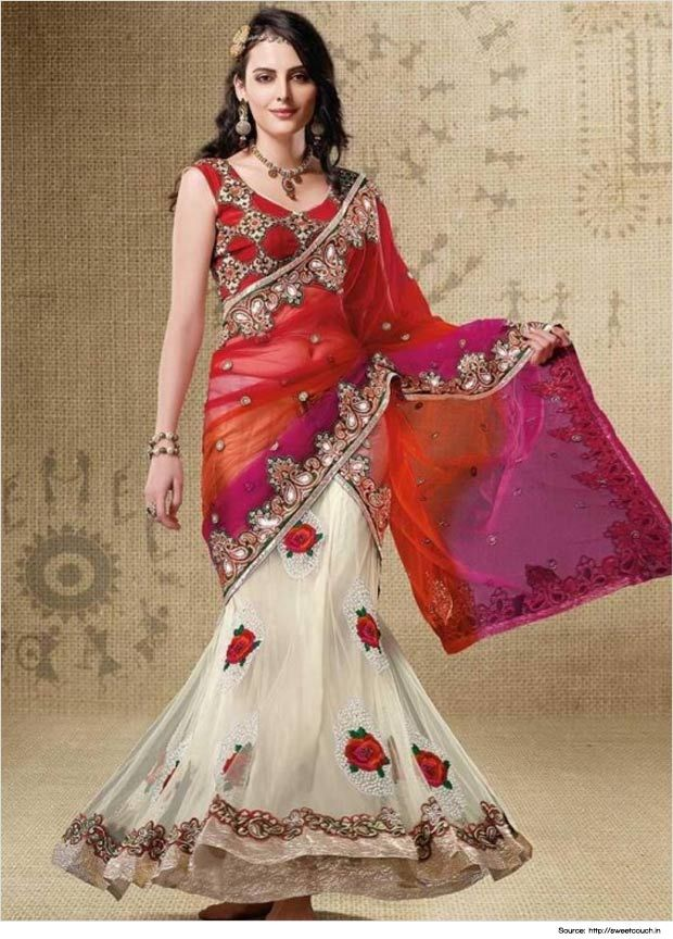 Top 18 Cutesy Fish Cut Lehengas | Lehenga Collection
