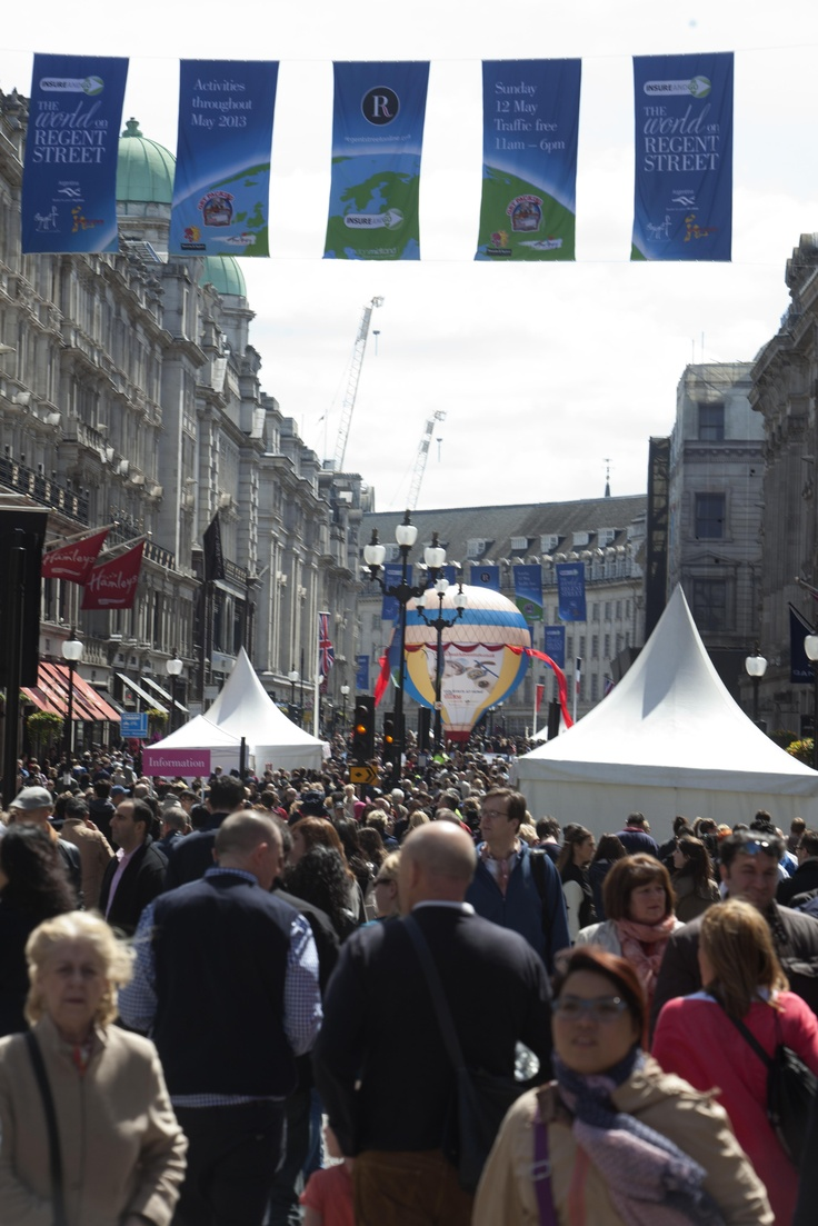 Great turn out and beautiful sunny day at The World on Regent Street.