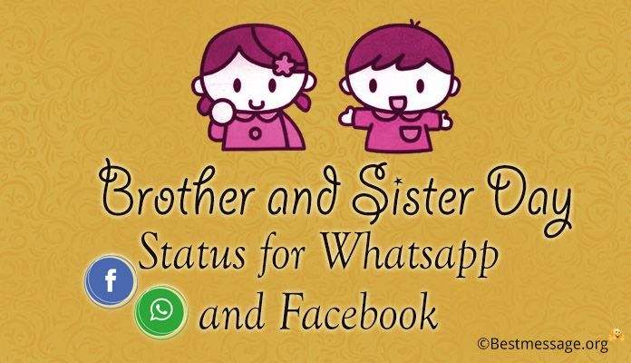 Brother And Sister Day Status Whatsapp And Fb Status