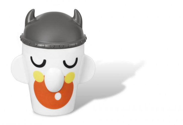 Kubek Wiking - PO SELECTED - DECO Salon.  Viking mug is made of white porcelain and bears a cheerful decor. #cup #herbs #tea #forkids #giftidea #kidsdesign