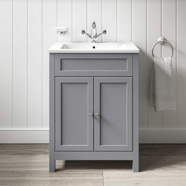 Butler Rose Catherine Vanity Unit Basin Matt Grey Bathroom
