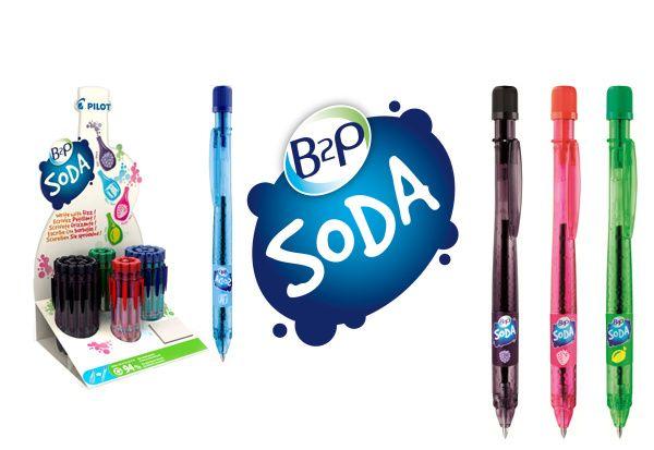 #B2PSoda sú ekologické perá populárne práve pre svoj hravý dizajn a recyklovateľnosť. Píšte s chuťou! :)