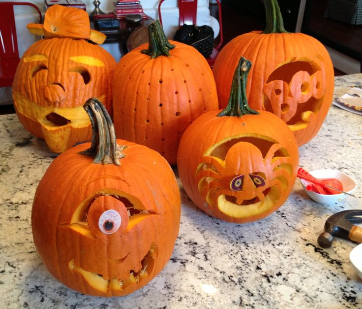 Carve out time with friends to do crafty things a pumpkin