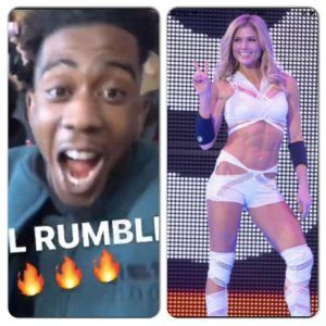 Watch Desiigner Wild Out at Royal Rumble And Shoot His Shot at Torrie Wilson (Video)