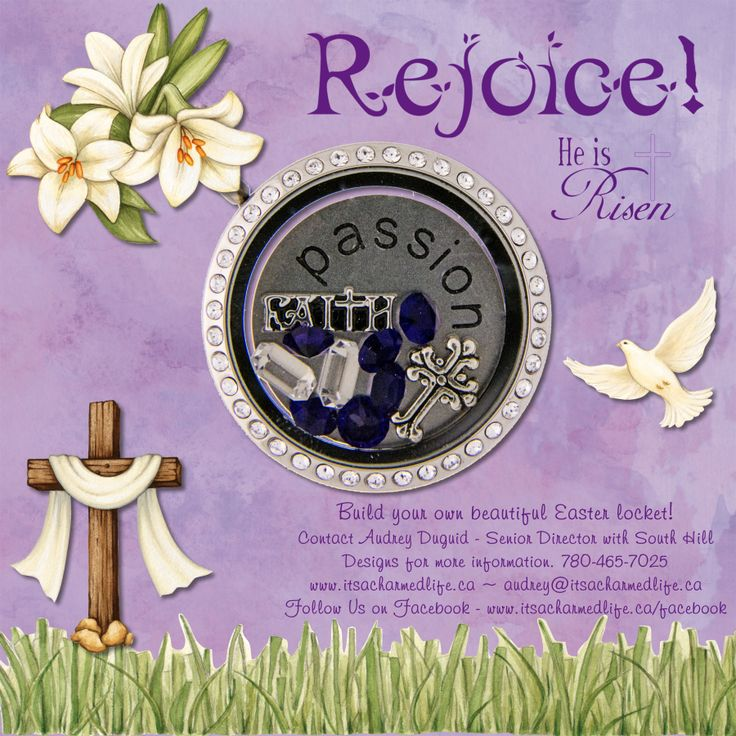 Design a Gorgeous Easter locket with South Hill Designs - It's a Charmed Life. #HeisRisen #Easterblessings #shdcharmedlife