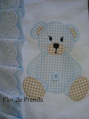 ARTE COM QUIANE -  Risco Ursinho para enxoval de Bebê