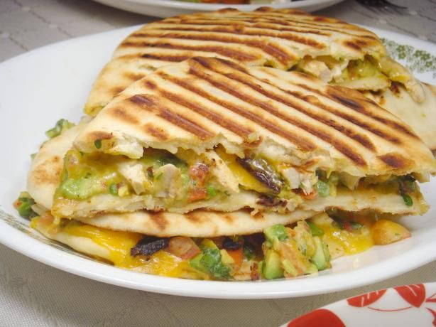Chicken and Avocado Panini Sandwiches from Food.com: The tastes of summer are terrific in this quick fix meal. You do NOT need a panini press for this sandwich.