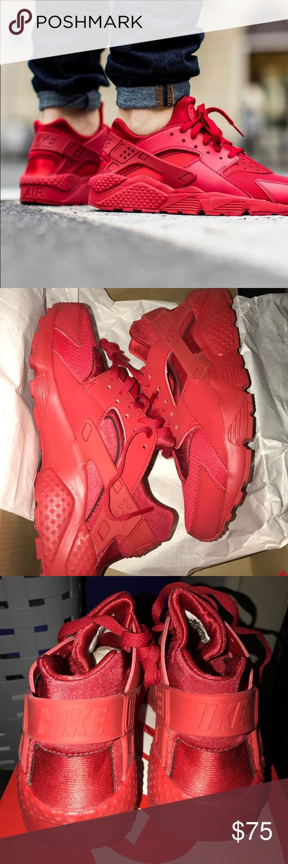 Nike Huarache Red 6Y 7.5 Women's New never worn. Comes with box. No trades, firm on price. Shoe is worth $102 with tax and shipping online & Around $92 without. Selling for less. 6Y, 7.5 in women's. Nike Shoes Sneakers