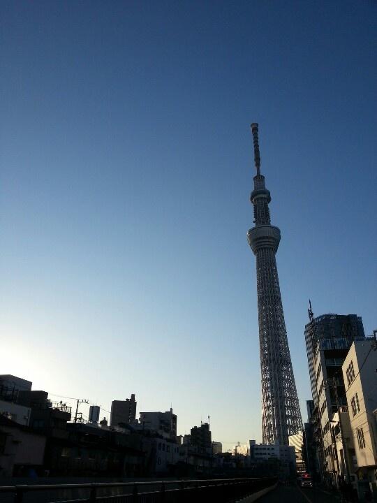 skytree from Ohyoko-river