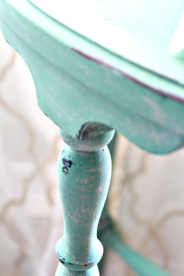 Heirloom Traditionu0027s Privilege U2013 A Yummy Vintage Green Color   How To Dry  Brush Furniture   Plus Video   Refunk My Junk