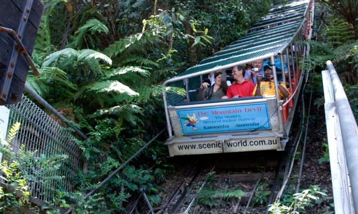 Public transport. I've been on this as a kid. Australia. Katoomba funicular - Alison Thompson / Alamy