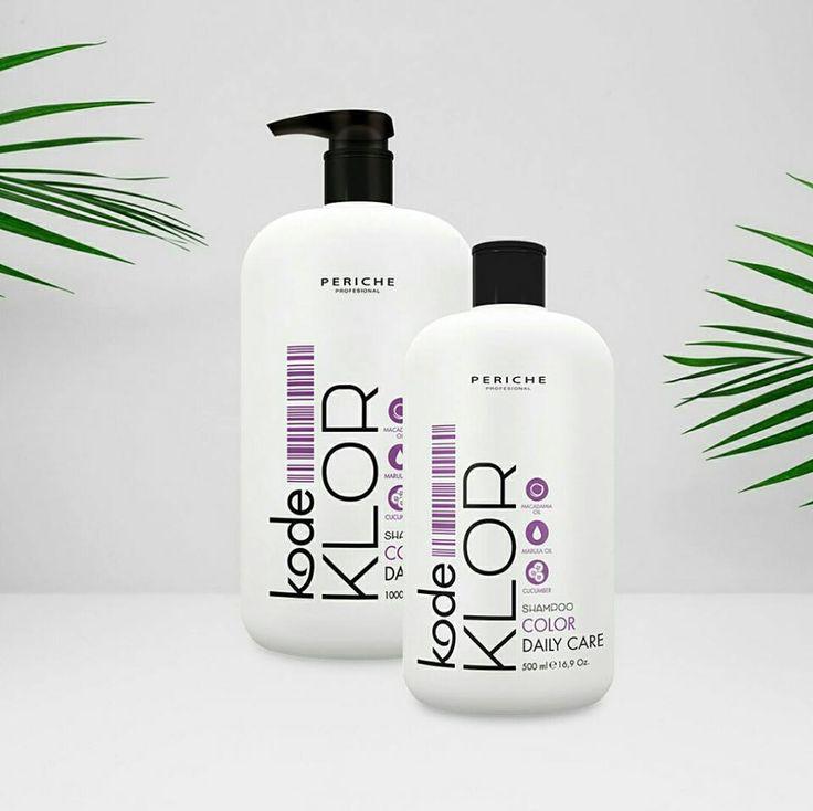 Shampoo KODE KLOR Color. #Champú de color, para cabellos teñidos o decolorados, rico en vitaminas y con aceite de macadamia que evita la destrucción y deshidratación del cabello teñido por efecto del sol.
