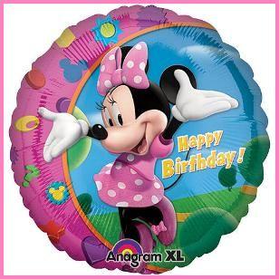 "Minnie Mouse 18"" Birthday Mylar Balloon $3.39 Cdn http://www.allthatstuff.net/Minnie/minnie-mouse-party-supplies.html"