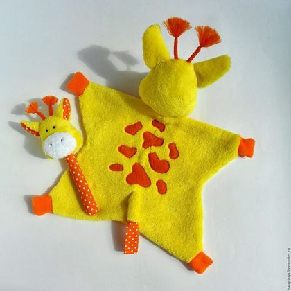 Игрушки животные, ручной работы. Жираф Горошек комфортер. Первая игрушка малыша, игрушка-сплюшка (0+). Елена Фоменко (baby-toys). Ярмарка Мастеров.