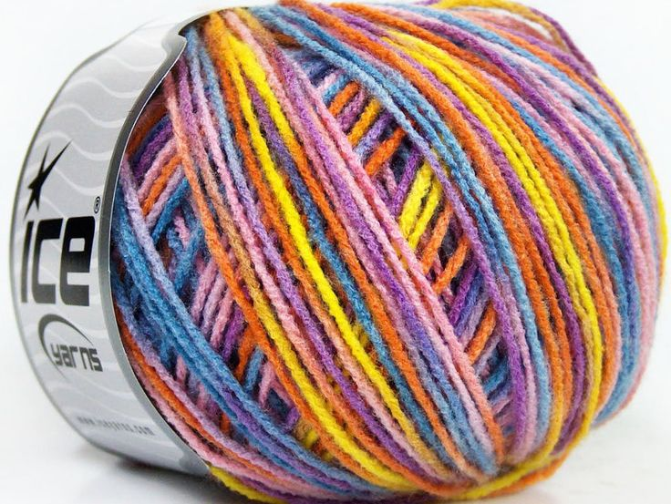 WatWollie ice yarn. Beautiful yarns at discounted prices http://watwollie.yarnshopping.com/baby-multicolor-geel-pink-oranje-blauw