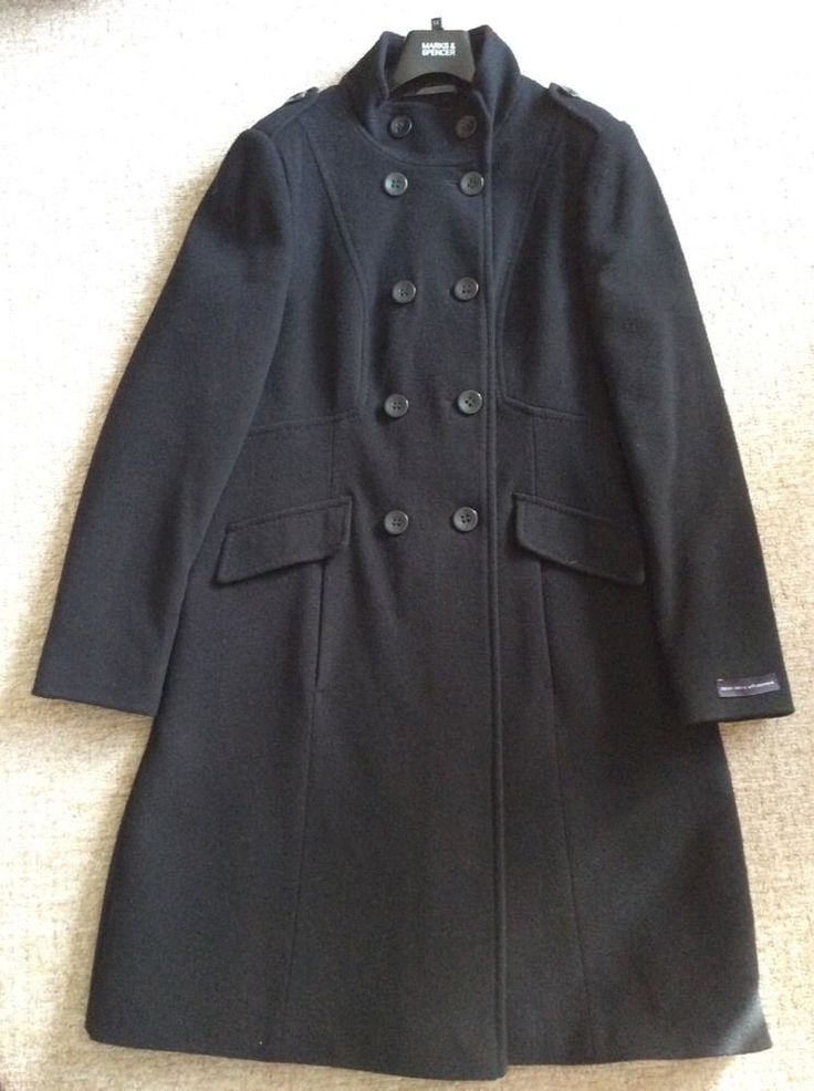 M&S Collection with CASHMERE spring/autumn/winter coat L UK14 EU40 USA10 BNWT RRP£99