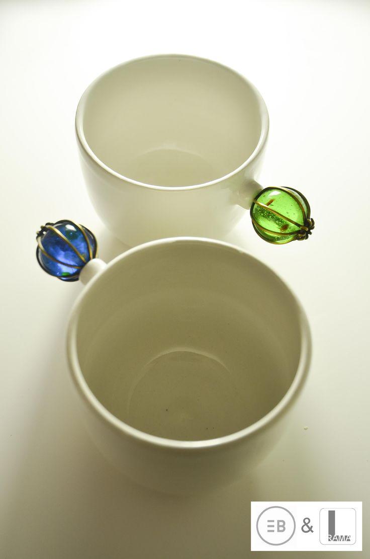 """Serie """" tazas de asas insólitas"""" esta colección es un trabajo en colaboración con joyería de autor Luis Rama. http://eugeniabosca.com/"""