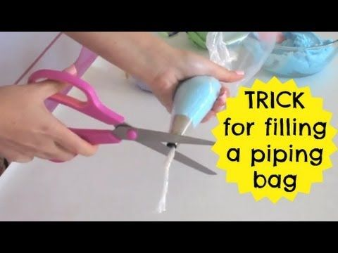 Saran Wrap Trick- Filling A Piping Bag With Frosting | Cupcakes 101 Video: Quick, Easy Tips & Tricks