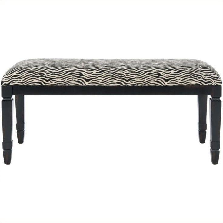 zebra bedroom bench