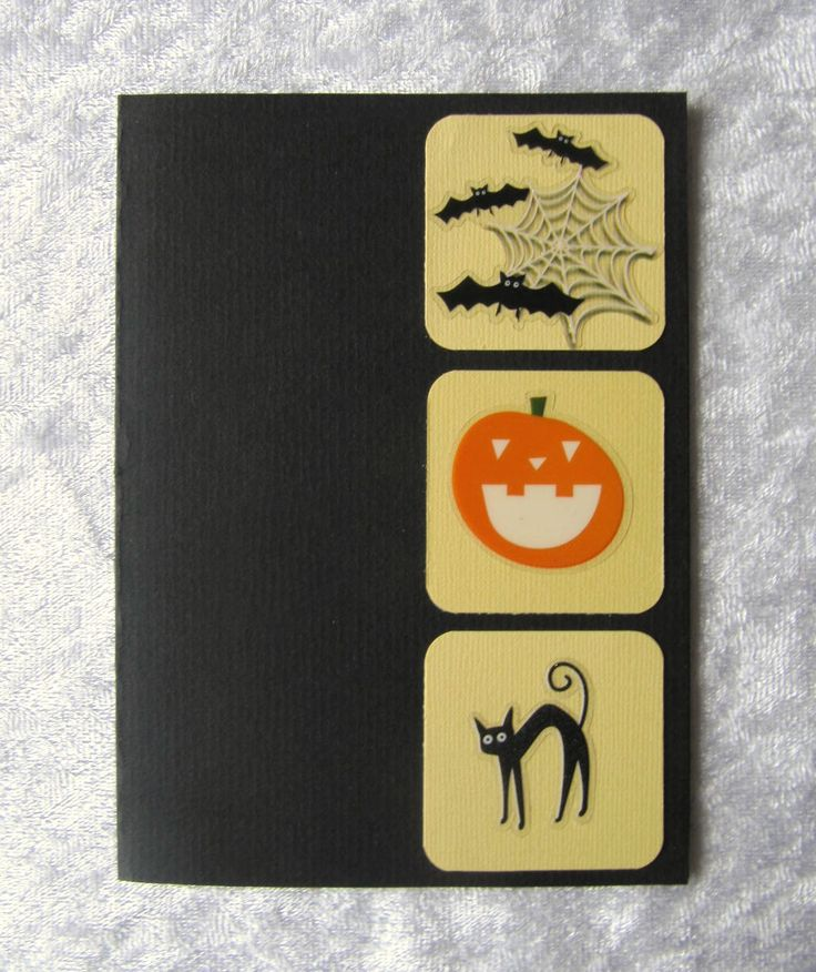 Halloween card for my 3 nephews, it has a pocket inside where I put some candy money.