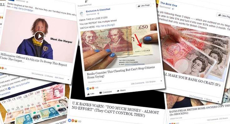 Facebook has a massive get-rich-quick scam problem    Spammy adverts promoting scams have been a big nuisance to the Internet advertising industry and has led to many Internet surfers turning to ad blocking software to get rid of them all.