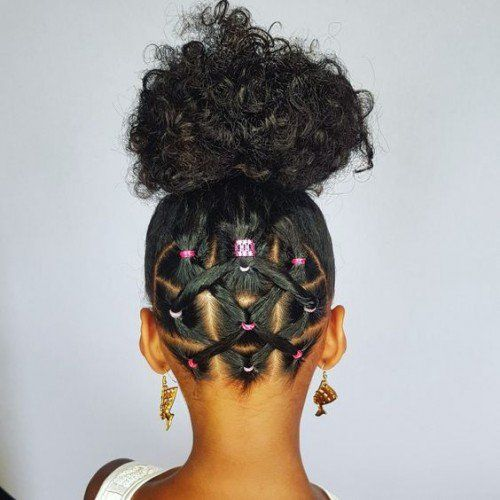 40 Cute Hairstyles for Black Little Girls | herinterest.com/