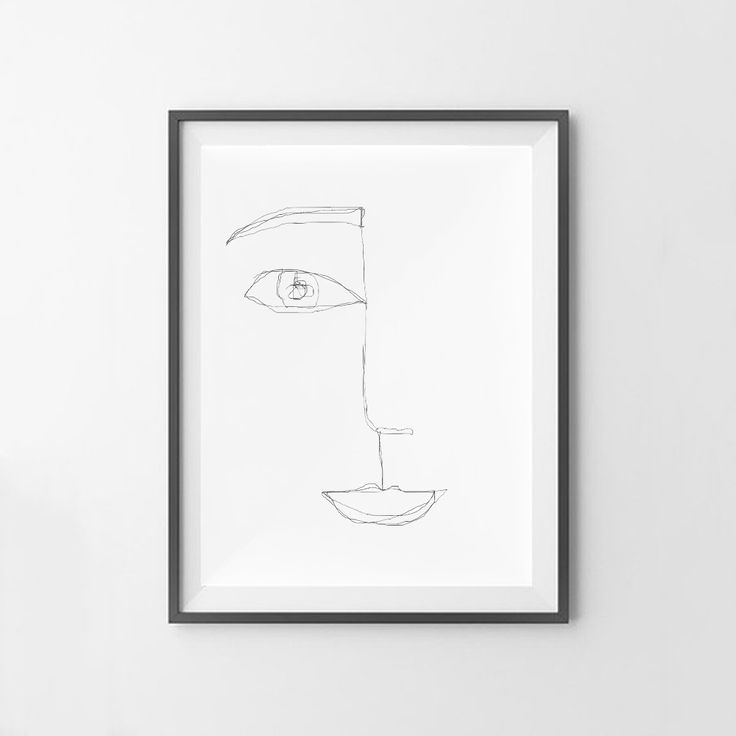 """""""Face Line Drawing"""" wall art print. This print comes with 4 different sizes to download. 5x7 JPG, 8X10 JPG, 11X14 JPG, 16x20 JPG. THIS IS A DIGITAL DOWNLOAD FILE ONLY. Enter code """"25OFF"""" when you buy 2 or more prints to save 25% off your entire order! https://www.etsy.com/au/listing/501358160/continued-line-face-drawing-print?ref=shop_home_active_13"""
